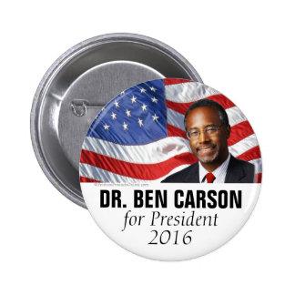 El Dr. Ben Carson para el botón 2016 del Pin Redondo De 2 Pulgadas