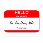 El Dr. Ben Dover, MD Postal