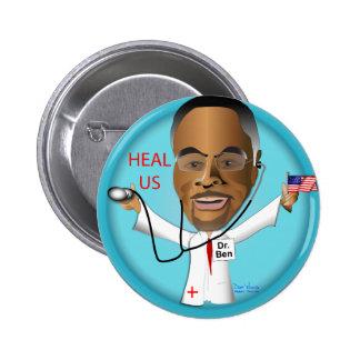 El Dr. Ben Heal los US Pin Redondo De 2 Pulgadas