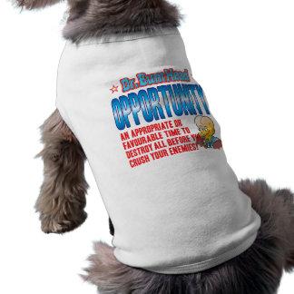 El Dr. Bum Head de la OPORTUNIDAD Camiseta De Perrito
