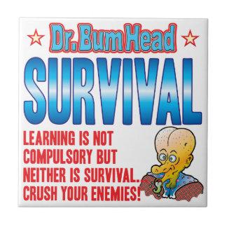 El Dr. Bum Head de la SUPERVIVENCIA Azulejo Ceramica