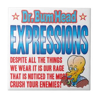 El Dr. Bum Head de las EXPRESIONES Azulejo Cerámica