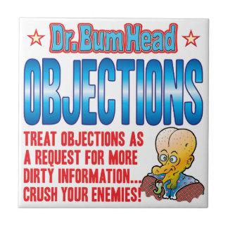 El Dr. Bum Head de las OBJECIONES Azulejo