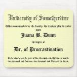 El Dr. de la dilación, diploma del chiste Alfombrilla De Raton
