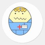 El Dr. Egg Dude Pegatina Redonda