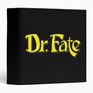 """El Dr. Fate Logo Carpeta 1 1/2"""""""