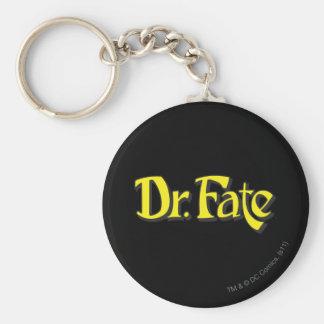 El Dr. Fate Logo Llavero Redondo Tipo Pin