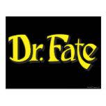 El Dr. Fate Logo Postal