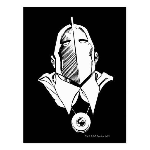 El Dr. Fate Mask Outline Tarjeta Postal