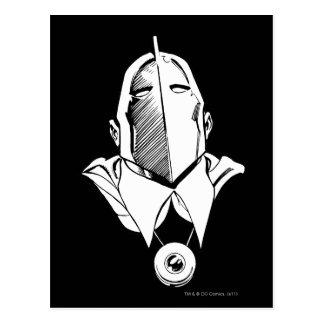 El Dr. Fate Mask Outline Tarjetas Postales