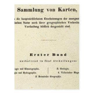 El Dr Heinrich Berghaus de la página de título Tarjeta Postal