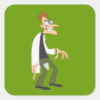 El Dr. Heinz Doofenshmirtz 2 Calcomanía Cuadradase