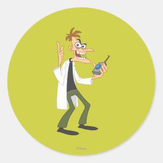 El Dr. Heinz Doofenshmirtz 3 Pegatina