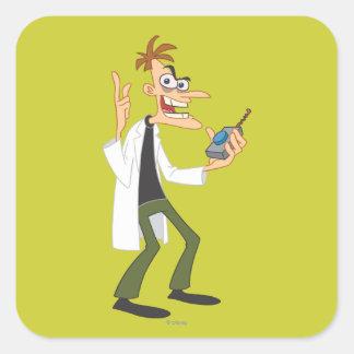 El Dr. Heinz Doofenshmirtz 3 Pegatina Cuadradas Personalizada