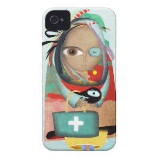 El Dr. Iphone Case del hospital de la enfermera Case-Mate iPhone 4 Protectores