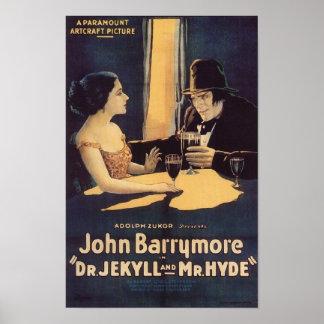 El Dr. Jekyll y cartel de película de Sr. Hyde Póster