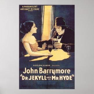 El Dr. Jekyll y poster 1920 de Sr. Hyde