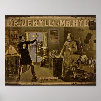 El Dr. Jekyll y Sr. Hyde Vintage Poster Art