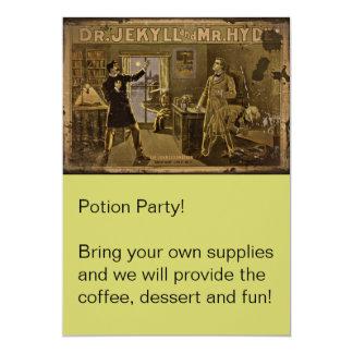 El Dr. Jekyll y Sr. Hyde Vintage Poster Art Invitación
