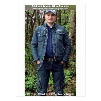 El Dr. Karl Shuker en la caza de Cannock - Postal