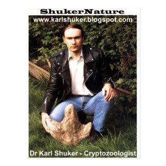 El Dr. Karl Shuker y huella del dinosaurio - Postal