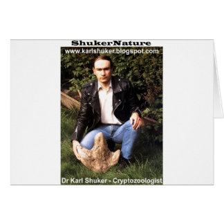 El Dr. Karl Shuker y huella del dinosaurio - Shuke Tarjeta De Felicitación