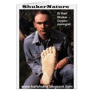 El Dr. Karl Shuker y la impresión de Bigfoot echar Tarjeta De Felicitación