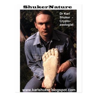 El Dr. Karl Shuker y la impresión de Bigfoot Postal