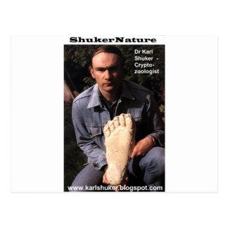 El Dr. Karl Shuker y la impresión de Bigfoot Postales