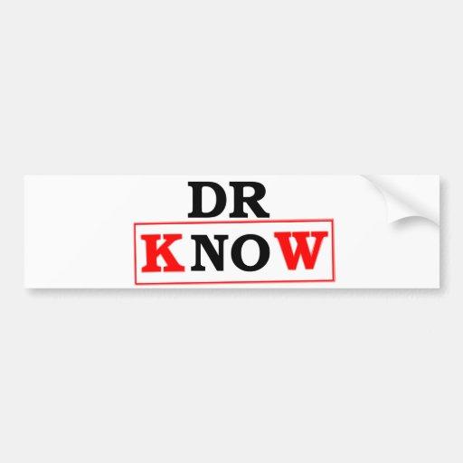 El Dr. Know Etiqueta De Parachoque