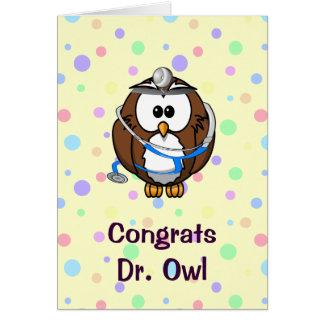 El Dr. Owl de Congrats Tarjeta De Felicitación