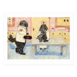 El Dr Puli y su pequeño paciente Postales