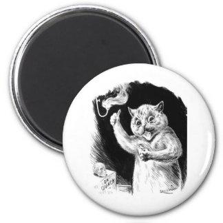 El Dr. Quack de las ilustraciones del gato de Loui Imán Redondo 5 Cm