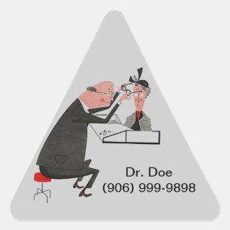 El Dr. retro del ojo doc. del ophthamologist del Pegatina Triangular