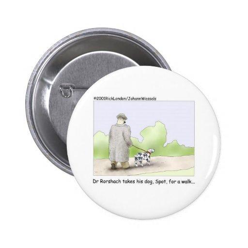 El Dr. Roarshach Cartoon Gifts, camisetas, y colec Pin