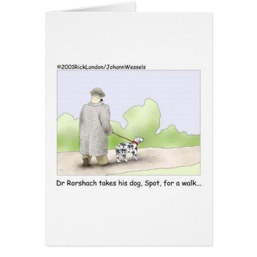 El Dr. Roarshach Cartoon Gifts, camisetas, y colec Tarjeta De Felicitación