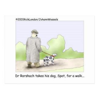 El Dr Roarshach Cartoon Gifts camisetas y colec Postal