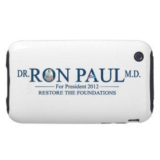 El Dr. Ron Paul M.D. Para el presidente 2012 iPhone 3 Tough Coberturas