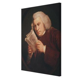 El Dr Samuel Johnson 1775 Impresión En Lona