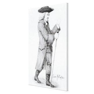 El Dr Samuel Johnson Impresión En Lona Estirada