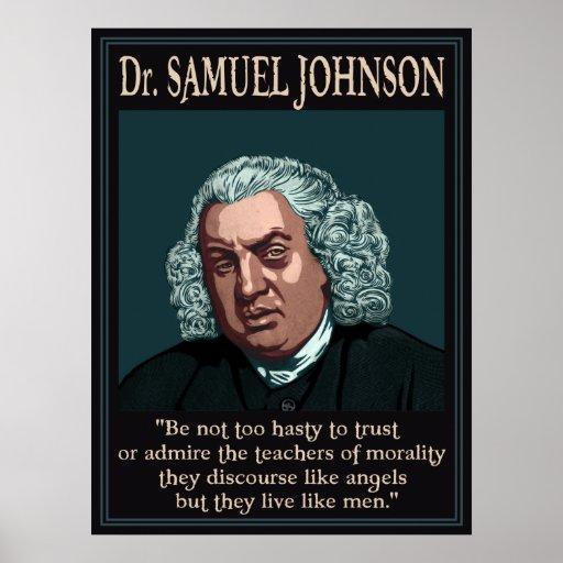 El Dr. Samuel Johnson Póster