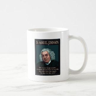 El Dr. Samuel Johnson Taza Básica Blanca