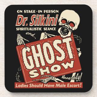 El Dr. Silkini Vintage Spook Show - sistema de 6 p Posavasos De Bebidas
