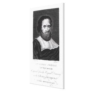 El Dr. Simon Forman del retrato grabado por Godfre Impresión En Lienzo