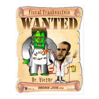 El Dr. Victor O Frankenstein Tarjeta Postal