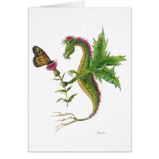 El dragón 2012 del cardo tarjeta de felicitación