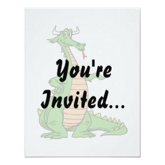 """el dragón amistoso distribuye .png invitación 4.25"""" x 5.5"""""""
