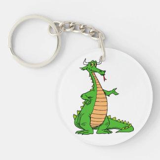 el dragón amistoso distribuye .png llavero redondo acrílico a doble cara