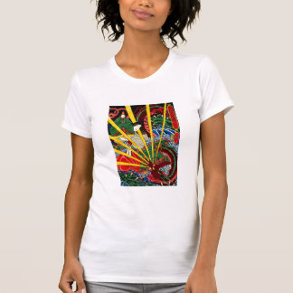 El dragón ardiente - camiseta - el blanco de la mu