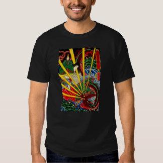 El dragón ardiente - camiseta - hombres negros playera